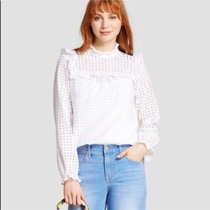 Who what wear white eyelet top